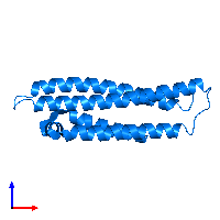 PDB 1gs9 contains 1 copy of Apolipoprotein E in assembly 1. This protein is highlighted and viewed from the front.