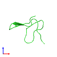 PDB 1gur coloured by chain and viewed from the front.