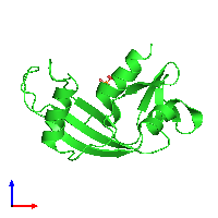 PDB 1h52 coloured by chain and viewed from the front.