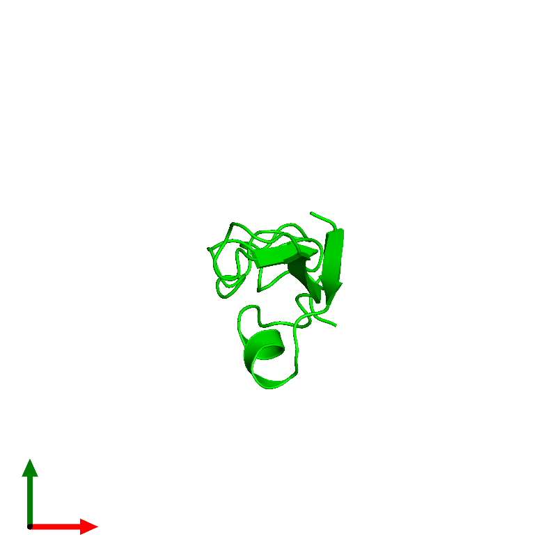 <div class='caption-body'><ul class ='image_legend_ul'>The deposited structure of PDB entry 1haf coloured by chemically distinct molecules and viewed from the top. The entry contains: <li class ='image_legend_li'>1 copy of Neuregulin-1</li><li class ='image_legend_li'>There are no non-polymeric molecules</li></ul></li></ul></li></div>