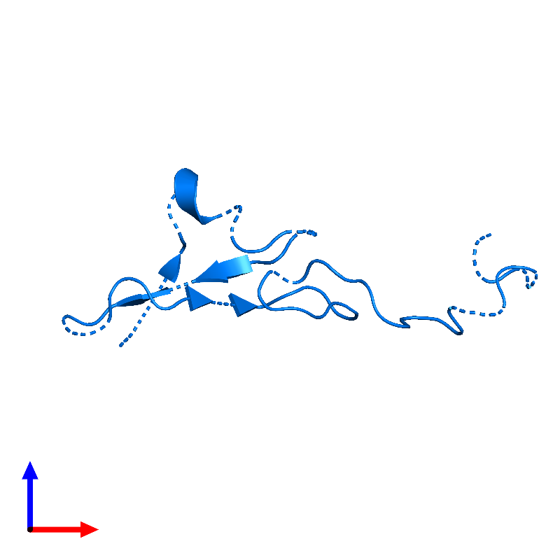 <div class='caption-body'>PDB entry 1haf contains 1 copy of Neuregulin-1 in assembly 1. This protein is highlighted and viewed from the front.</div>