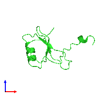 PDB 1hfg coloured by chain and viewed from the front.