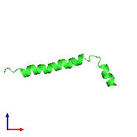 PDB 1hj0 coloured by chain and viewed from the front.