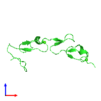 PDB 1hj7 coloured by chain and viewed from the front.