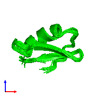 0-meric assembly 1 of PDB entry 1hly coloured by chemically distinct molecules and viewed from the front.