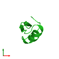 PDB 1hly coloured by chain and viewed from the top.
