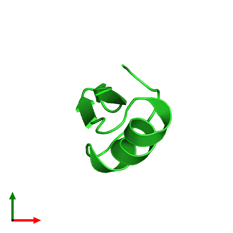 <div class='caption-body'><ul class ='image_legend_ul'>The deposited structure of PDB entry 1hly coloured by chain and viewed from the top. The entry contains: <li class ='image_legend_li'>1 copy of Potassium channel toxin alpha-KTx 2.5</li><li class ='image_legend_li'>There are no non-polymeric molecules</li></ul></li></ul></li></div>