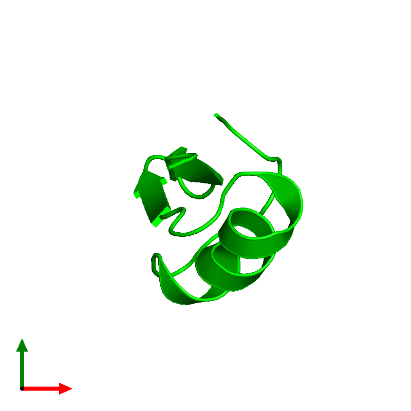 <div class='caption-body'><ul class ='image_legend_ul'>The deposited structure of PDB entry 1hly coloured by chemically distinct molecules and viewed from the top. The entry contains: <li class ='image_legend_li'>1 copy of Potassium channel toxin alpha-KTx 2.5</li><li class ='image_legend_li'>There are no non-polymeric molecules</li></ul></li></ul></li></div>