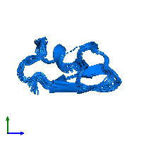 PDB 1hly contains 1 copy of Potassium channel toxin alpha-KTx 2.5 in assembly 1. This protein is highlighted and viewed from the side.