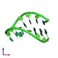 PDB 1ho6 coloured by chain and viewed from the front.