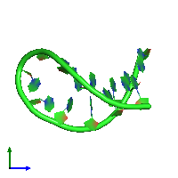 PDB 1ho6 coloured by chain and viewed from the side.