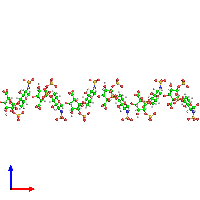 0-meric assembly 1 of PDB entry 1hpn coloured by chemically distinct molecules and viewed from the front.