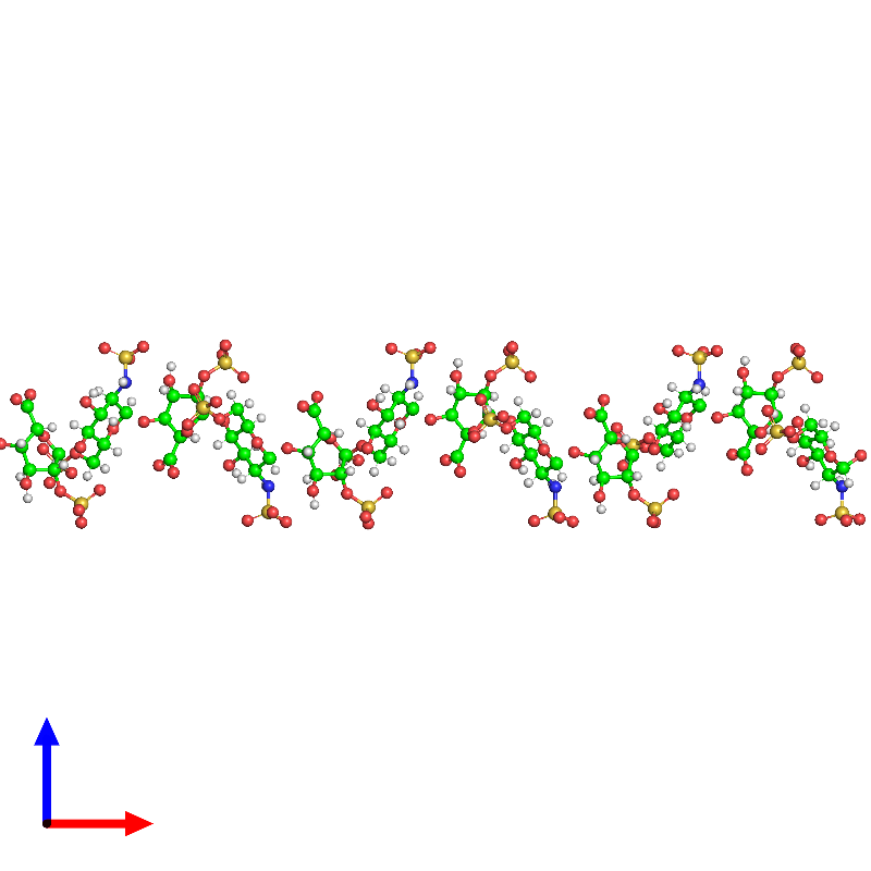 <div class='caption-body'><ul class ='image_legend_ul'> 0-meric assembly 1 of PDB entry 1hpn coloured by chemically distinct molecules and viewed from the front. This assembly contains:<li class ='image_legend_li'>One copy of 2-O-sulfo-alpha-L-idopyranuronic acid-(1-4)-2-deoxy-6-O-sulfo-2-(sulfoamino)-alpha-D-glucopyranose-(1-4)-2-O-sulfo-alpha-L-idopyranuronic acid-(1-4)-2-deoxy-6-O-sulfo-2-(sulfoamino)-alpha-D-glucopyranose-(1-4)-2-O-sulfo-alpha-L-idopyranuronic acid-(1-4)-2-deoxy-6-O-sulfo-2-(sulfoamino)-alpha-D-glucopyranose-(1-4)-2-O-sulfo-alpha-L-idopyranuronic acid-(1-4)-2-deoxy-6-O-sulfo-2-(sulfoamino)-alpha-D-glucopyranose-(1-4)-2-O-sulfo-alpha-L-idopyranuronic acid-(1-4)-2-deoxy-6-O-sulfo-2-(sulfoamino)-alpha-D-glucopyranose-(1-4)-2-O-sulfo-alpha-L-idopyranuronic acid-(1-4)-2-deoxy-6-O-sulfo-2-(sulfoamino)-alpha-D-glucopyranose</li></ul></div>