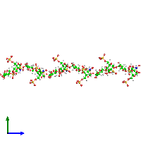 0-meric assembly 1 of PDB entry 1hpn coloured by chemically distinct molecules and viewed from the side.