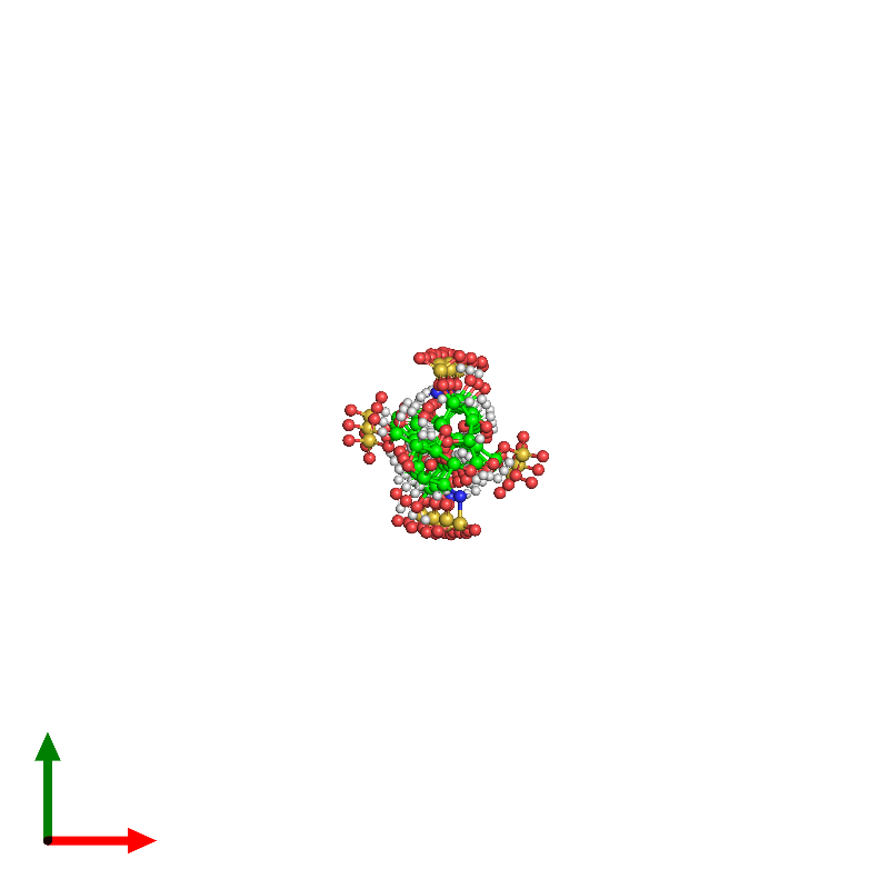 <div class='caption-body'><ul class ='image_legend_ul'> 0-meric assembly 1 of PDB entry 1hpn coloured by chemically distinct molecules and viewed from the top. This assembly contains:<li class ='image_legend_li'>One copy of 2-O-sulfo-alpha-L-idopyranuronic acid-(1-4)-2-deoxy-6-O-sulfo-2-(sulfoamino)-alpha-D-glucopyranose-(1-4)-2-O-sulfo-alpha-L-idopyranuronic acid-(1-4)-2-deoxy-6-O-sulfo-2-(sulfoamino)-alpha-D-glucopyranose-(1-4)-2-O-sulfo-alpha-L-idopyranuronic acid-(1-4)-2-deoxy-6-O-sulfo-2-(sulfoamino)-alpha-D-glucopyranose-(1-4)-2-O-sulfo-alpha-L-idopyranuronic acid-(1-4)-2-deoxy-6-O-sulfo-2-(sulfoamino)-alpha-D-glucopyranose-(1-4)-2-O-sulfo-alpha-L-idopyranuronic acid-(1-4)-2-deoxy-6-O-sulfo-2-(sulfoamino)-alpha-D-glucopyranose-(1-4)-2-O-sulfo-alpha-L-idopyranuronic acid-(1-4)-2-deoxy-6-O-sulfo-2-(sulfoamino)-alpha-D-glucopyranose</li></ul></div>