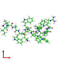 PDB 1hr1 coloured by chain and viewed from the front.