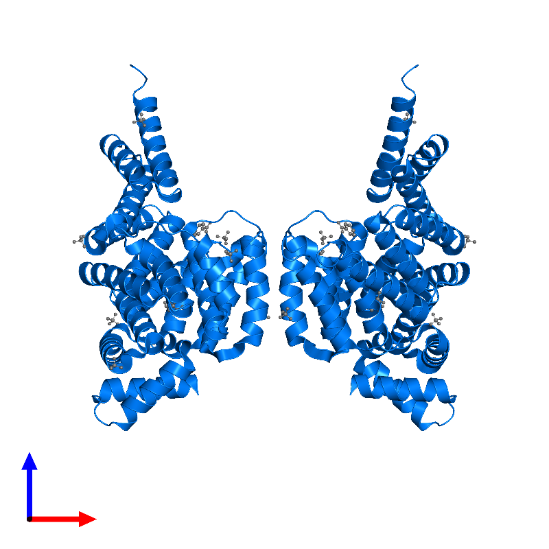 <div class='caption-body'>PDB entry 1hz4 contains 2 copies of HTH-type transcriptional regulator MalT in assembly 1. This protein is highlighted and viewed from the front.</div>