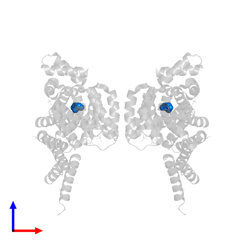 <div class='caption-body'>PDB entry 1hz4 contains 2 copies of GLYCEROL in assembly 1. This small molecule is highlighted and viewed from the front.</div>