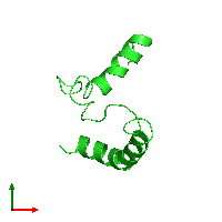 PDB 1i5j coloured by chain and viewed from the top.