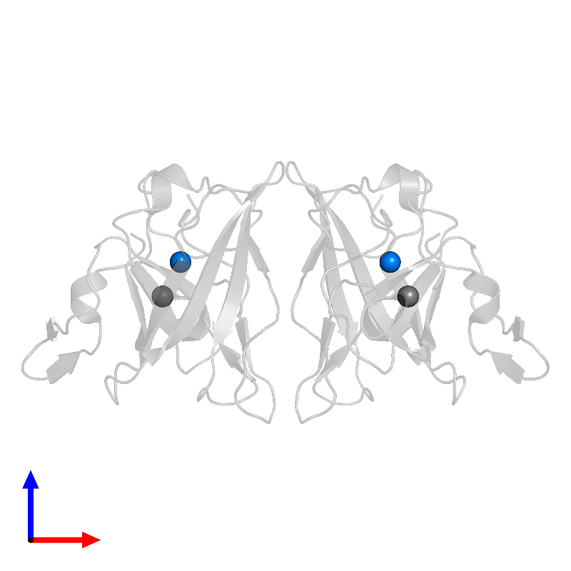 <div class='caption-body'>PDB entry 1ibd contains 2 copies of ZINC ION in assembly 1. This small molecule is highlighted and viewed from the front.</div>