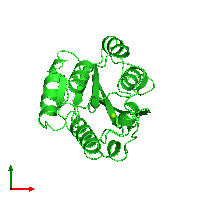PDB 1ido coloured by chain and viewed from the top.