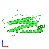 PDB 1ier coloured by chain and viewed from the front.