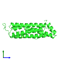 PDB 1ier coloured by chain and viewed from the side.