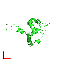 PDB 1ig6 coloured by chain and viewed from the front.