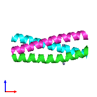 PDB 1ij0 coloured by chain and viewed from the front.