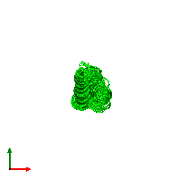 0-meric assembly 1 of PDB entry 1ijp coloured by chemically distinct molecules and viewed from the top.