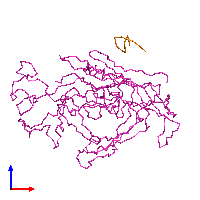 PDB 1ijs coloured by chain and viewed from the front.