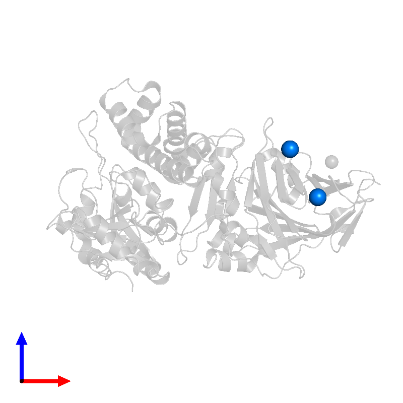 <div class='caption-body'>PDB entry 1ikq contains 2 copies of SODIUM ION in assembly 1. This small molecule is highlighted and viewed from the front.</div>