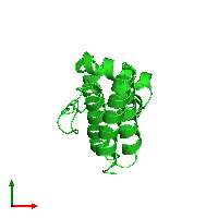 PDB 1it5 coloured by chain and viewed from the top.