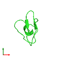 PDB 1iyc coloured by chain and viewed from the top.