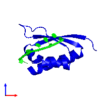 0-meric assembly 1 of PDB entry 1j5k coloured by chemically distinct molecules and viewed from the front.