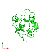 PDB 1ja2 coloured by chain and viewed from the top.