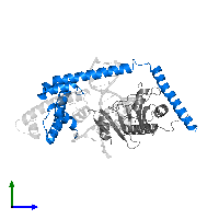 PDB 1jfi contains 1 copy of Transcription Regulator NC2 beta chain in assembly 1. This protein is highlighted and viewed from the side.
