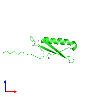 PDB 1jml coloured by chain and viewed from the front.