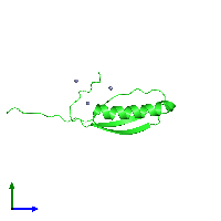 PDB 1jml coloured by chain and viewed from the side.