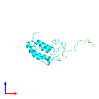 PDB 1jsp coloured by chain and viewed from the front.