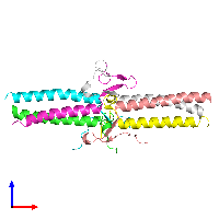 PDB 1jy3 coloured by chain and viewed from the front.