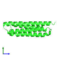 PDB 1k40 coloured by chain and viewed from the side.