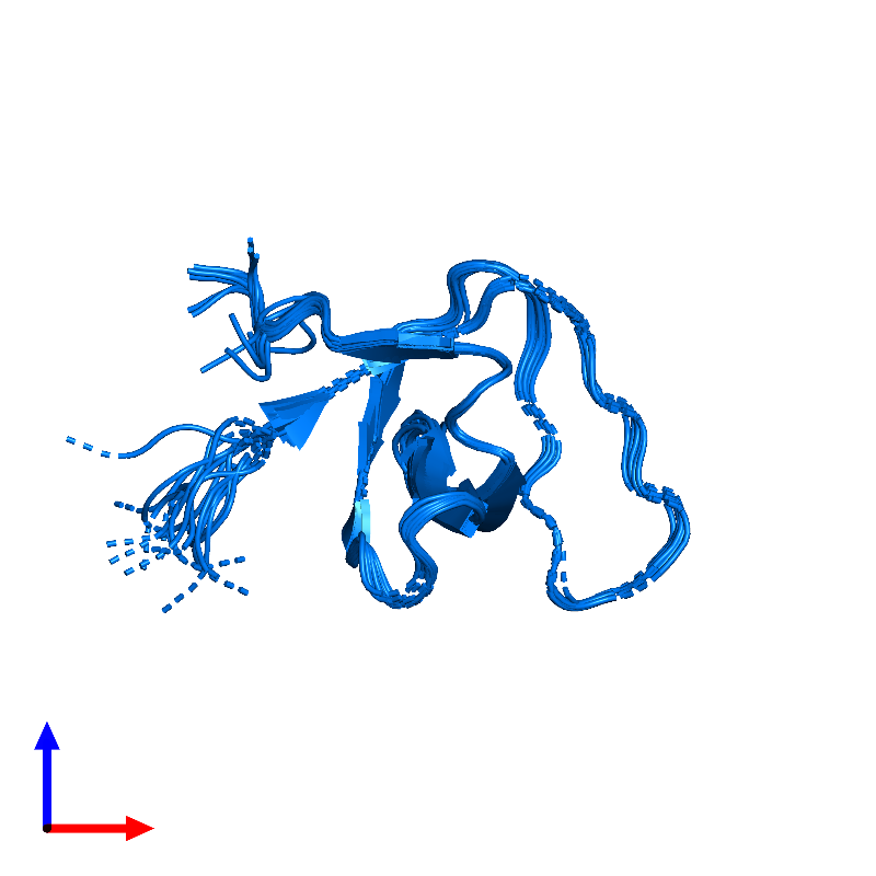 <div class='caption-body'>PDB entry 1kfz contains 1 copy of Sex muscle abnormal protein 5 in assembly 1. This protein is highlighted and viewed from the front.</div>