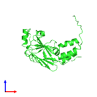 PDB 1khx coloured by chain and viewed from the front.