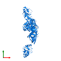 PDB 1ko7 contains 3 copies of HPr kinase/phosphorylase in assembly 1. This protein is highlighted and viewed from the top.
