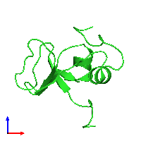 PDB 1ksq coloured by chain and viewed from the front.