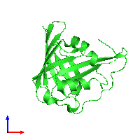PDB 1kxo coloured by chain and viewed from the front.