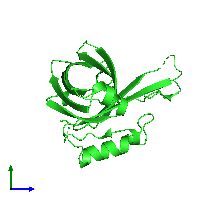 PDB 1kxo coloured by chain and viewed from the side.