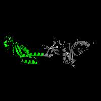 1 copy of SCOP domain 69706 (Transcription factor NusA, N-terminal domain) in Transcription termination/antitermination protein NusA in PDB 1l2f.