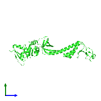 PDB 1l2f coloured by chain and viewed from the side.